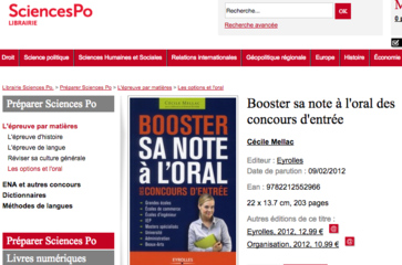 "La sélection de Sciences Po Paris ""Booster sa note à l'oral"""